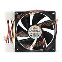 90x90x25мм 12В 4pin компьютер ПК бесшумный Вентилятор охлаждения Cooler чехол