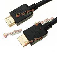 Высокоскоростной черное золото 10 футов 3 м кабель HDMI с разрешением 1080p для HDTV PS3 все