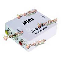 Мини-композитный AV к HDMI HD цифровой видео конвертер av2hdmi и HDV-m615