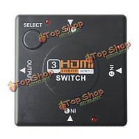 3 порта HDMI-переключатель переключатель сплиттера для HDTV 1080p на пс3