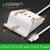UGreen высокоскоростной 4 порта USB 3.0 концентратор с адаптером питания USB-концентратор