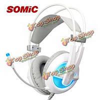 Somic g938 наушников 7.1 виртуального объемного звука USB гарнитура с регулятором громкости микрофона