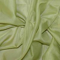 Тюль Вуаль зеленый чай, однотонная + высококачественный пошив