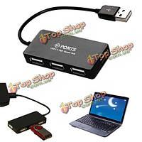 4-портовый высокоскоростной USB 2.0 концентратор 480 Мбит мульти-разделитель расширения