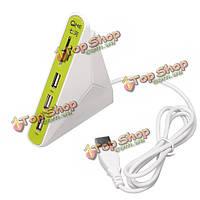 QHE 3в1 USB 2.0 хаб 3 портовый USB-концентратор с сд тф читателя Мико SD-карта