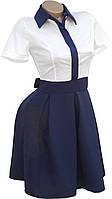 Деловое платье с воротничком (в расцветках)