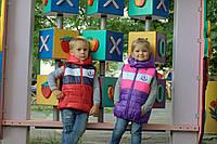 """Детская демисезонная куртка-жилетка """"Монклер"""""""