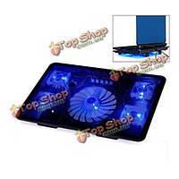 Ноутбук ноутбук колодки охлаждения 5 поклонников ноутбук игровой охлаждения база не скользит коврик дизайна