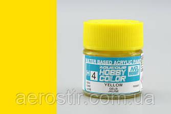 Краска для моделей Mr.Hobby H4 Yellow