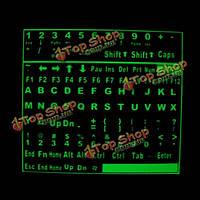 Поделки самоклеющиеся светящиеся светящиеся флуоресцентные наклейки на клавиатуру