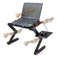 Раскладной стол подставка для ноутбука с мышкой держатель
