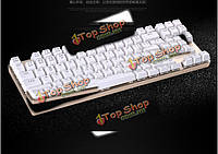 Ciy механические переключатели команда волком zhuque gaote синие переключатели механической игровой клавиатуры 87 клавиша с подсветкой