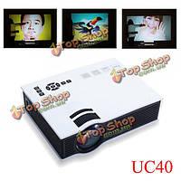 UC40 домашнего кинотеатра HD 800LM аудио-видео HDMI USB и SD Mini LED проектор