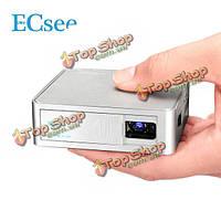 ЭСЮВЕ es130 мини-проектор DLP HDMI портативный домашний кинотеатр мультимедиа проектор 1080p серебра