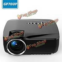 GP70до Mini андроид LED проектор с Google Play обновляется GP70 8Гб ром Bluetooth  Wi-Fi TV видеопроектор RAM портативный проектор 1g