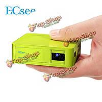 ECsee ES130 мини-проектор DLP HDMI белый зеленый портативный домашний кинотеатр мультимедиа видеопроектор 1080p
