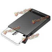MantisTek™ Жесткий диск и твердотельный накопитель Корпус внешний HDD 2.5-дюймов случай поддержки UASP SATA mbox2.5 без инструментов USB 3.0 SATA III