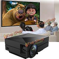 GM60 Портативный Mini домашний кинотеатр 800x480 LED LCD  проектор 1080P HD