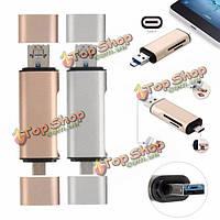 5в1 USB 3.1 Type-C микро USB 2.0 TF/SD кард-ридер USB 3.0 адаптер для планшета