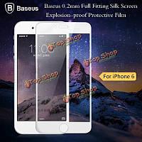 Baseus 0.2мм полный фитинга шелкография пленка Ударопрочное защитная пленка для iPhone 6 Plus 4.7 5.5