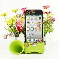 Lovely дизайн формы рожочка кремния громкоговоритель для iPhone 4 и 4S