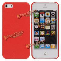 Красный тупая польского песка пластиковый чехол для iPhone 5 случайные отгрузки