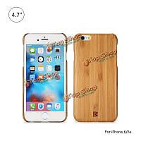 ReMax 4.7-дюймов натуральный деревянный корпус текстура древесины бамбука шаблон задняя крышка крышка для iPhone 6 6s