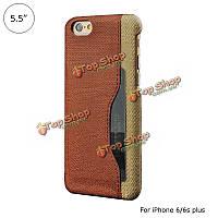 Смешанные цвета кожи PU кожаный чехол с держателем карты обратно крышку корпуса для iPhone 6 Plus 6s плюс