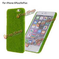 """Новизна газон зеленая трава зеленая дерна крышка случая плюшевых жесткий пластмассовый корпус для iPhone 6plus 6splus 5.5"""""""