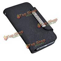 Тайга кожаный чехол с магнитной застежкой бумажника Folio для iPhone5