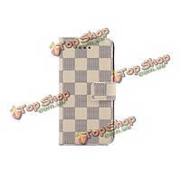 Шахматная доска PU слот кожа карты защитный чехол для iPhone 6