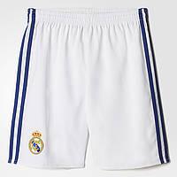 Детские футбольные шорты для мальчиков Adidas Real Madrid Home (Артикул: AI5202)