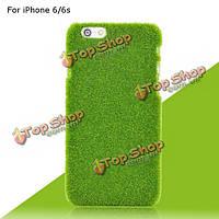 Новизна газон зеленая трава зеленая дерна крышка случая плюшевых жесткий пластмассовый корпус для iPhone 6 6s 4.7 дюйма