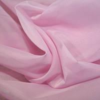 Тюль фрезово-розовая Вуаль, однотонная + высококачественный пошив