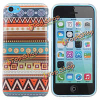 Племенной стиль микс цвет TPU жесткий задняя крышка крышка для iPhone 5С