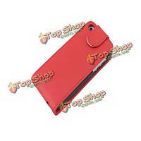Красочные Flip вверх-вниз с кожаный чехол карман для iPhone 5С