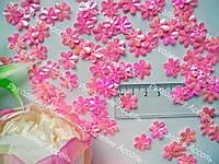 Паетки цветочек розовый хамелион  30шт