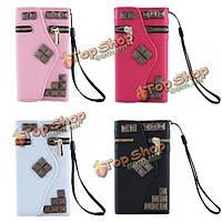 Молнии бумажник карты Flip PU кожаный чехол для iPhone 5 5С