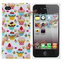 Фруктовый торт и конфеты дизайн TPU жесткий футляр обратно для iPhone 5 5s