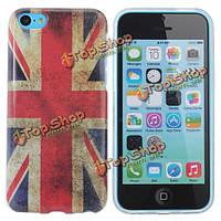 Флаг Великобритании дизайн TPU жесткий задняя крышка крышка для iPhone 5С