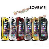 LoveMei алюминий металл стекло горилла обязанность чехол для iPhone 6