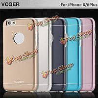 Алюминий vcoer TPU серийная раковина защиты защищенный от царапин случай для iPhone 6 6 s 6plus 6 с плюс