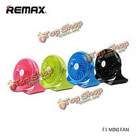 ReMax F3 портативный мини-вентилятор 360° вращающийся встроенный литиевый аккумулятор USB зарядное энергосбережения