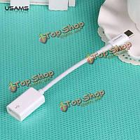 USAms 130мм белый тип С кабель для зарядки MacBook синхронизации данных USB C для USB адаптер