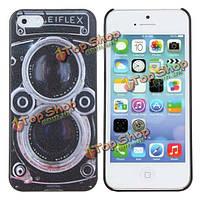 Рельефная текстура защита камера зерно для iPhone 5 5s