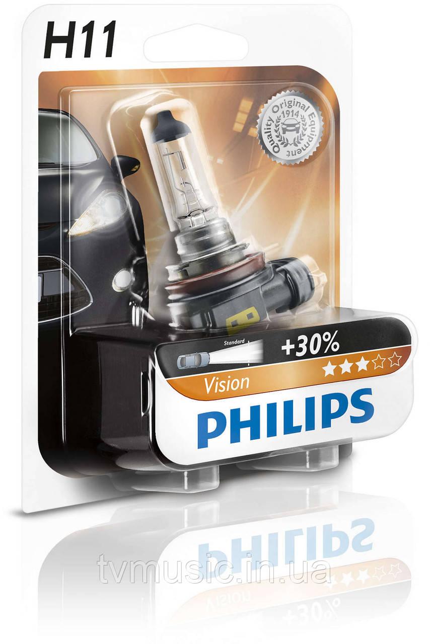 Галогенная лампа Philips Vision H11 12V 55W (12362PRB1)