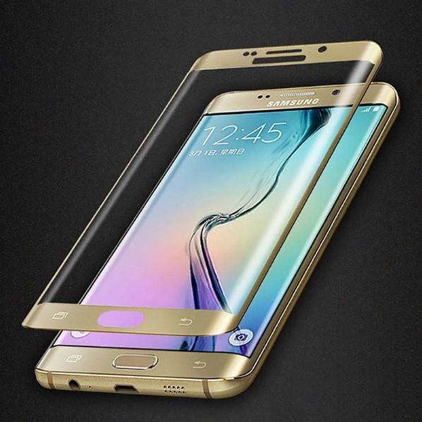Защитное стекло 3D для Samsung Galaxy S6 Edge G925 закругленные края