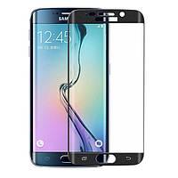 Защитное стекло 3D для Samsung Galaxy S6 Edge G925 закругленные края, фото 1