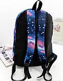 Шкільний рюкзак космос Галактика, фото 3