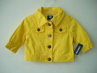 Джинсовая куртка на девочку Old Navy (желтая)